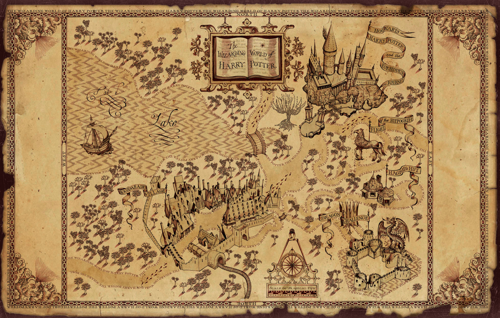 Map of the theme park