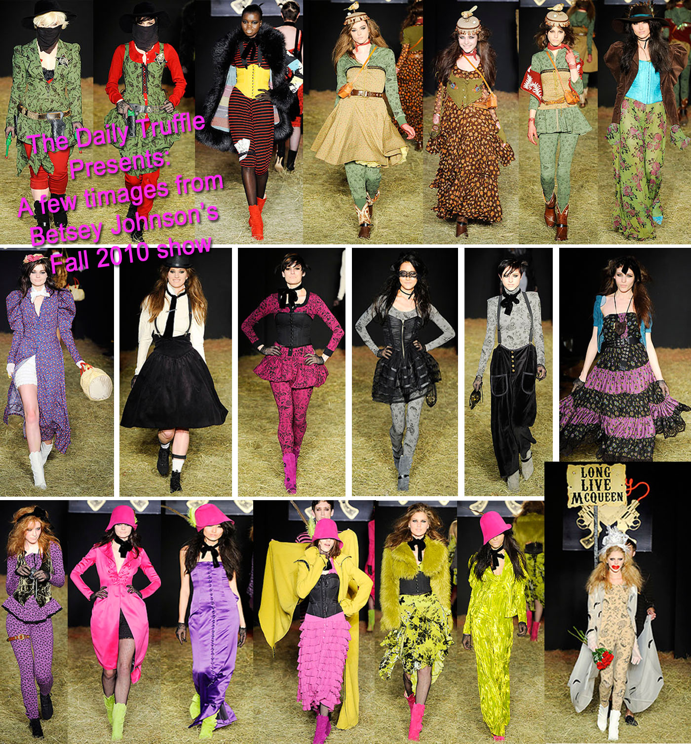 With Betsey Johnson showing at