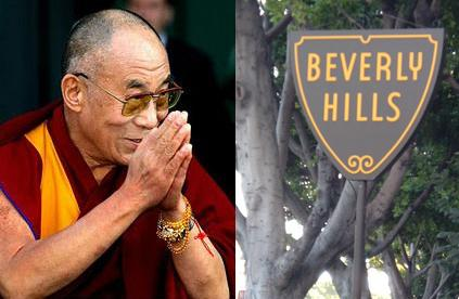 dalai lama in beverly hilld