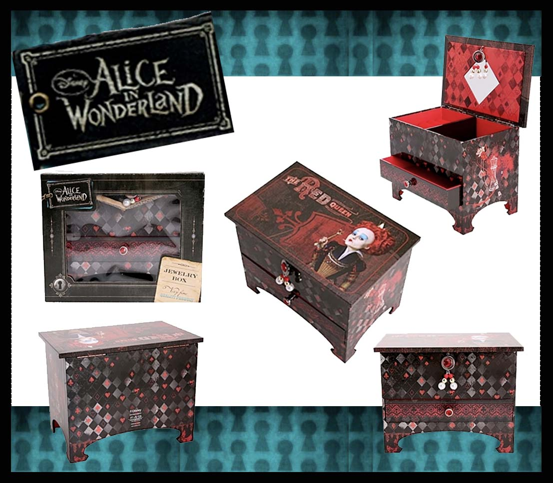 Alice in wonderland hot topic red queen jewelry box The Daily