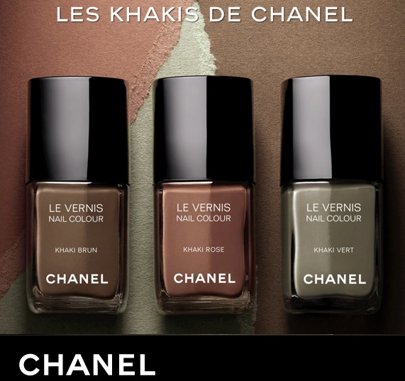 Chanel Fall Winter 2010 nail polish is a trio of khaki colours
