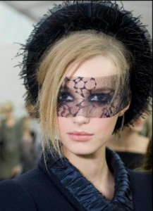 Chanel's masks at Fall 2011/ Winter 2012 Haute Couture show