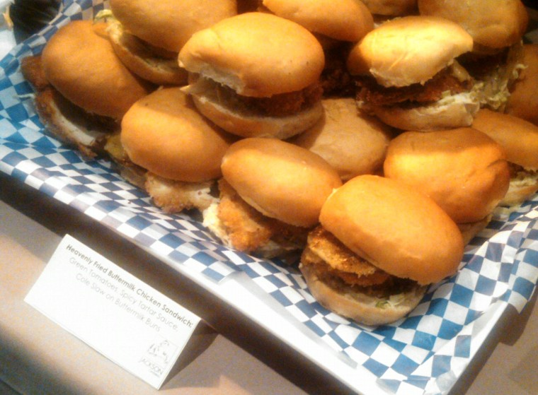 Fried Chicken sandwiches at the after party