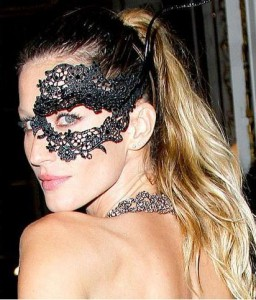 Gisele Bundchen at French Vogue's 90th Anniversary masked ball