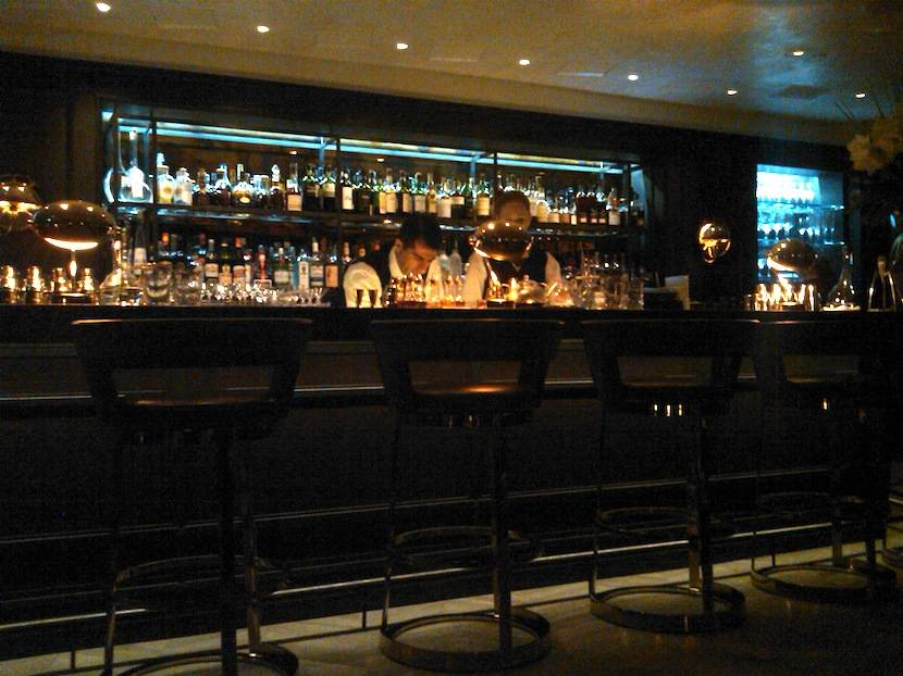The new bar at the Bel Air -- not quite like the old one, but ok