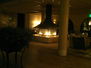 New lobby - I'm ok with a giant fireplace