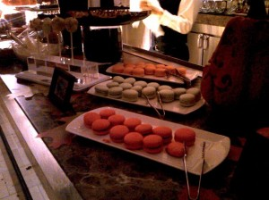 Wolf's Thanksgiving dessert bar - macarons are so hot right now
