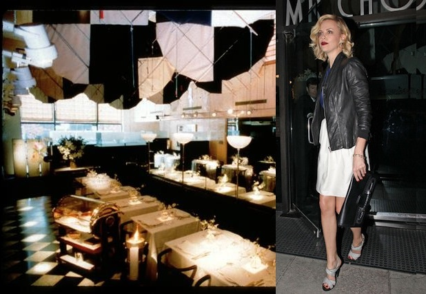 Charlize Theron had dinner at Mr. Chow Tuesday night in Beverly Hills