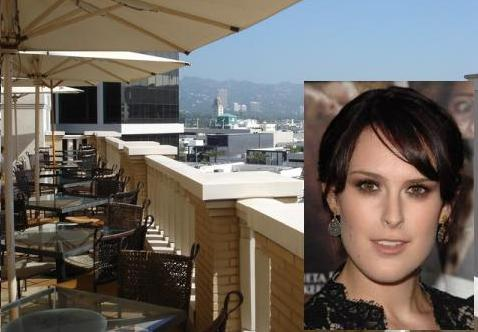 Rumer Willis had lunch last week at Barney's in Beverly Hills