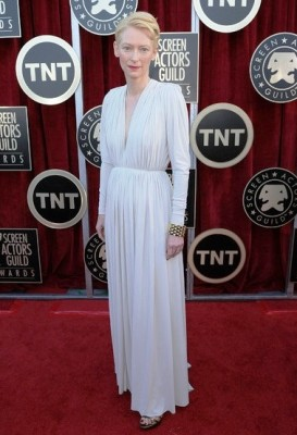 Tilda Swinton in Lanvin and Pomellato jewelry