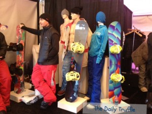 Mannequins and a man at Burton Experience