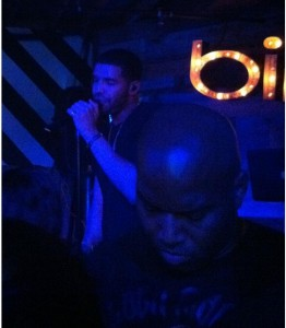 Drake with his body guard who wouldn't let anyone take pictures