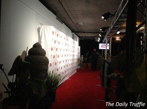 red carpet / basement entrance to Tao at Sundance