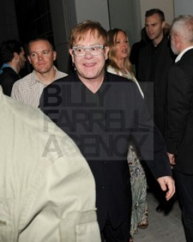 Elton John at Gagosian gallery in BH