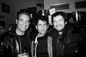 French sexy team in New York : JEAN DUJARDIN, ANDRE SARAIVA and GUILLAUME CANET, in the kitchen of the recently opened Baron NY, New York. Photo Stephane Feugere