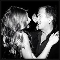 Gisele Bundchen and Mario Testino at the after party
