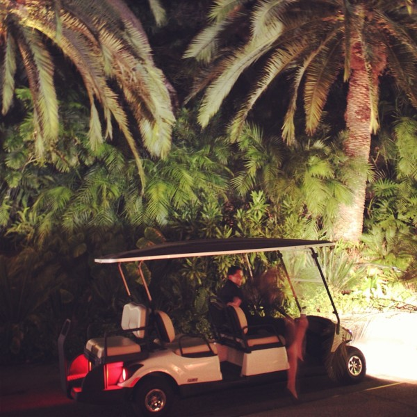 Golf Carts Chauffeured Guests To The New Complex