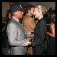 Russell Simmons and model Carolyn Murphy at the opening