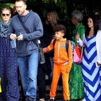 LA resident Heidi Klum and boyfriend with the kids, landing in Hawaii for Spring Break 2013