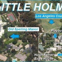 Pictured above is The Old Spelling Mansion, Hugh Hefner's mansion and extra house, and the agreed-upon best country club in Los Angeles: LACC. Also in Little Holmby: Ronald Reagan's old house, and Armand Hammer Park.