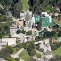 Hugh Hefner's Playboy Mansion rests on the edge of LACC just below Sunset Blvd.