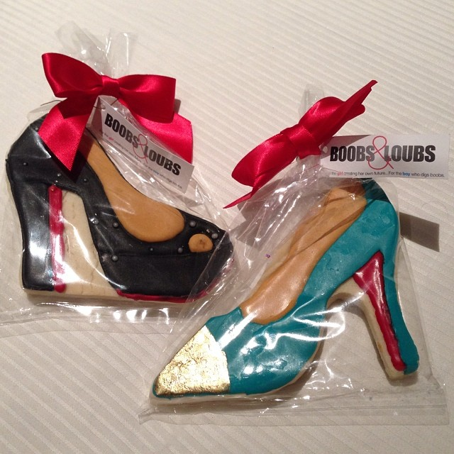 What a party favor for the @boobsandloubs_ launch party! Congrats Morgan! #RKOBH via @deemurthy