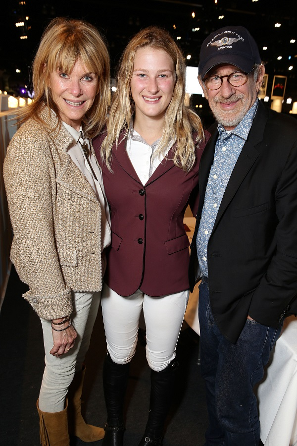 Photo by Eric Charbonneau/REX Shutterstock Kate Capshaw, Destry Allyn Spielberg and Steven Spielberg Longines Masters, Day 1, Los Angeles, America - 01 Oct 2015