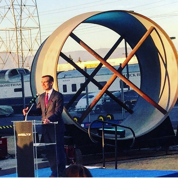 hyperlooptechGuest appearance by Mayor Eric Garcetti. Downtown Los Angeles, home of Hyperloop Tech. Headquarters